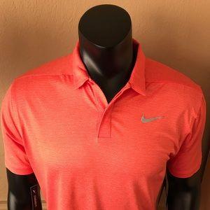 Nike Dri Fit Control Stripe Golf Polo Men's Medium